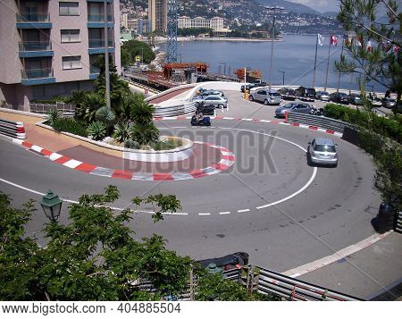 Monaco, Monte Carlo - 15th May 2018: A German Photographer Visiting The French Riviera, Having A One
