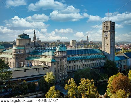 Munich, Germany - Nov 01, 2020: German Museum Or Deutsches Museum In Munich, Germany, The World's La