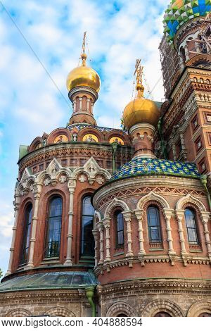 Church Of The Savior On Spilled Blood Or Cathedral Of The Resurrection Of Christ Is One Of The Main