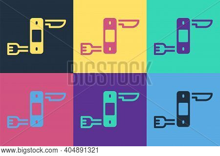 Pop Art Swiss Army Knife Icon Isolated On Color Background. Multi-tool, Multipurpose Penknife. Multi