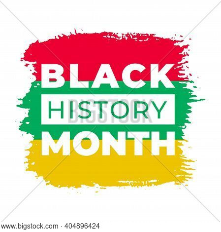 Black History Month. Vector African American History Flag Design Element For Poster, Print, Card, Ba