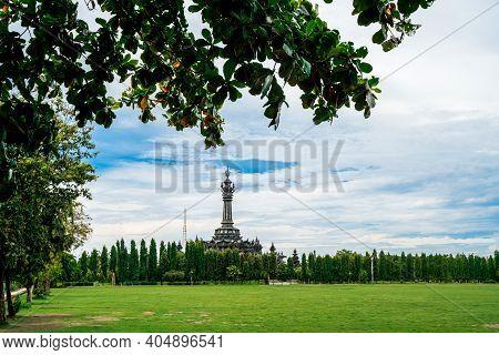 Bajra Sandhi Monument Or Monumen Perjuangan Rakyat Bali, Denpasar, Bali, Indonesia. Ourist Destinati