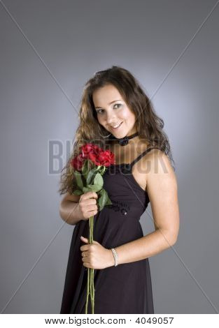 Girl With Roses.