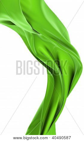 Abstract green cloth on a white background, image isolated poster