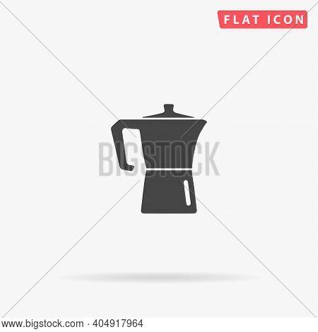 Arabic Coffee Pot Flat Vector Icon. Hand Drawn Style Design Illustrations.