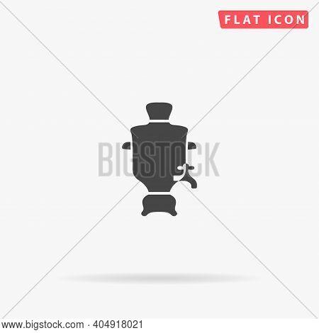 Samovar Flat Vector Icon. Hand Drawn Style Design Illustrations.