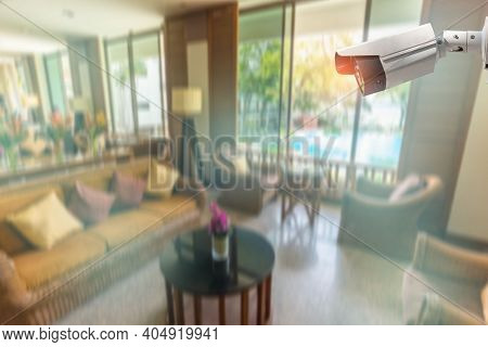 Multi-angle Cctv Inside The House On Pillar 360 Degree System Background Blast Cipping Path