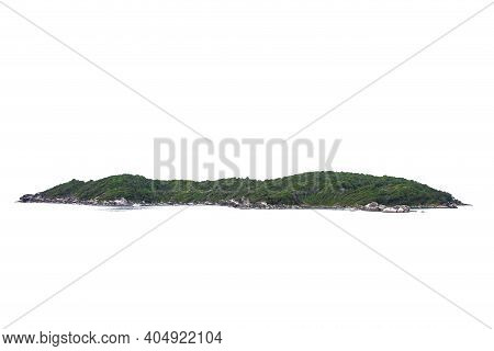 Tropical Natural Island,hill,mountain Isolated On White Background