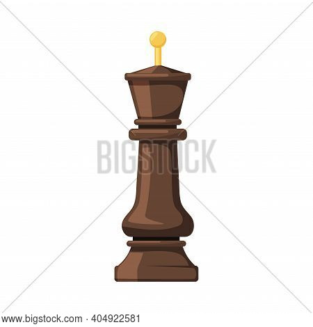Black King As Chess Piece Or Chessman Vector Illustration