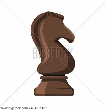 Black Knight As Chess Piece Or Chessman Vector Illustration