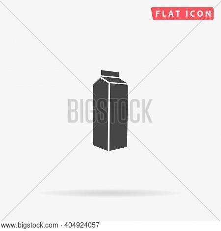 Milk Container, Pak Flat Vector Icon. Hand Drawn Style Design Illustrations.