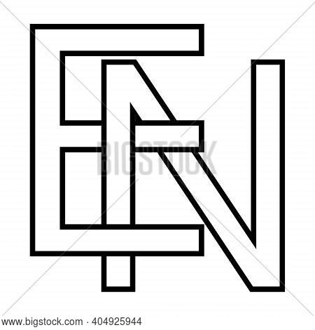 Logo Sign En Ne Icon Sign Interlaced Letters N, E Vector Logo En, Ne First Capital Letters Pattern A