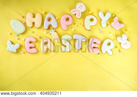 Easter Cookie Background