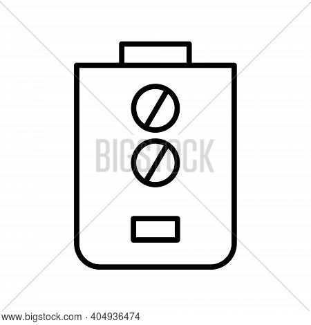 Gas Water Heater Icon Isolated On White Background. Water Heater Outline Icon Vector Illustration.