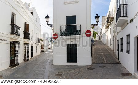 Narrow Alleys In The Historic Old Center Of Vejer De La Frontera