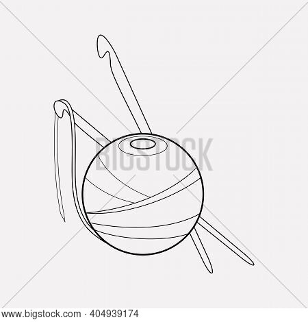 Crochet Icon Line Element. Vector Illustration Of Crochet Icon Line Isolated On Clean Background For