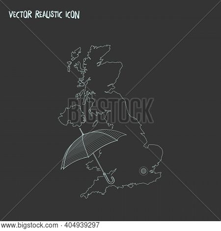 Uk Icon Line Element. Vector Illustration Of Uk Icon Line Isolated On Clean Background For Your Web