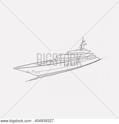 Yacht Icon Line Element. Vector Illustration Of Yacht Icon Line Isolated On Clean Background For You