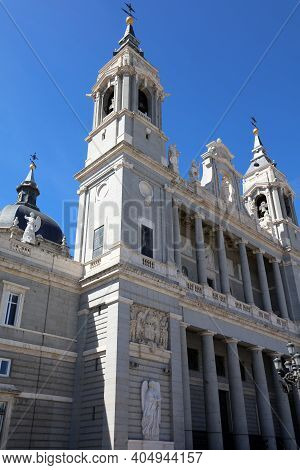 The Almudena Cathedral In Madrid. Spain. Europe