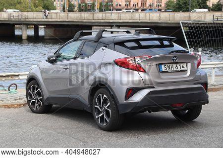 Stockholm, Sweden - August 23, 2018: Toyota C-hr Hybrid Compact Car Parked In Stockholm, Sweden. The