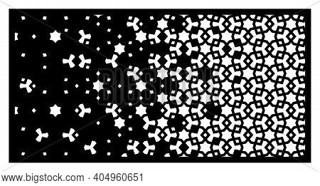 Arabic Laser Pattern. Decorative Vector Panel, Screen, Sheet, Partition, Divider For Laser Cutting W