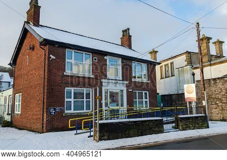 Holywell, Flintshire; Uk: Jan 25, 2021: The Former County Police Station On Halkyn Road Is Now The O