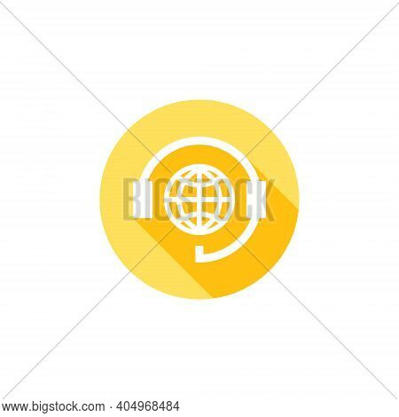 Support Icon. World Online Support. Online Support Icon. Hotline Support Service With Headphones. Fl