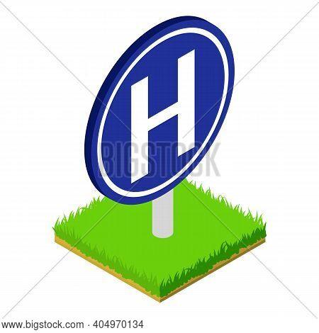Hospital Roadsign Icon. Isometric Illustration Of Hospital Roadsign Vector Icon For Web