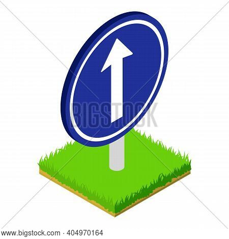 Straight Roadsign Icon. Isometric Illustration Of Straight Roadsign Vector Icon For Web