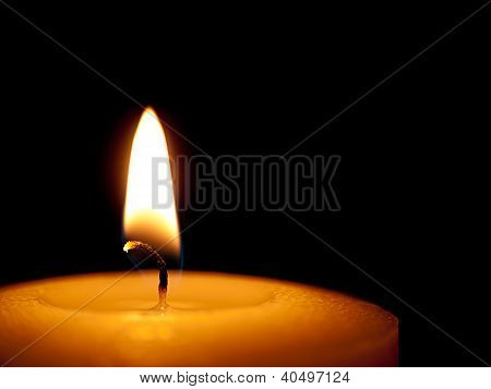Candle burning in the night