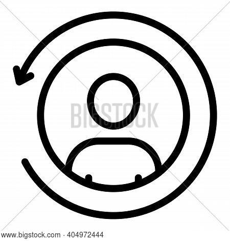 Agent Avatar Icon. Outline Agent Avatar Vector Icon For Web Design Isolated On White Background