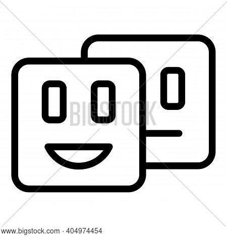 Agent Emoji Icon. Outline Agent Emoji Vector Icon For Web Design Isolated On White Background