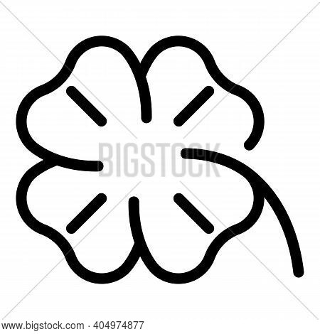 Clover Celebration Icon. Outline Clover Celebration Vector Icon For Web Design Isolated On White Bac