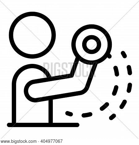 Physical Rehabilitation Hands Icon. Outline Physical Rehabilitation Hands Vector Icon For Web Design
