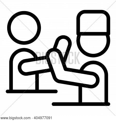Physical Rehabilitation Doctor Icon. Outline Physical Rehabilitation Doctor Vector Icon For Web Desi