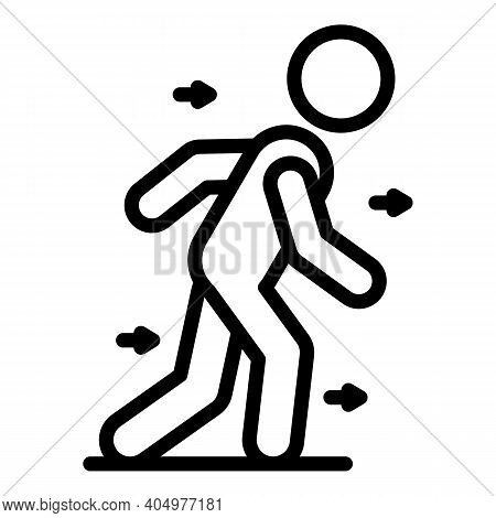 Physical Rehabilitation Motion Icon. Outline Physical Rehabilitation Motion Vector Icon For Web Desi