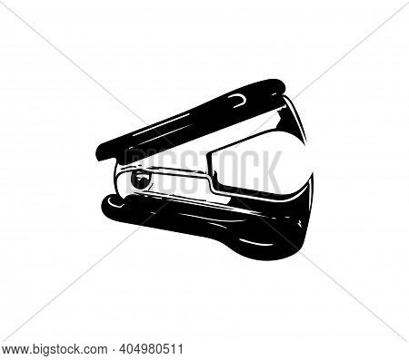 Staple Remover Sketch Drawing. Illustration Of Office Supplies, Instrument For Remove Some Staple