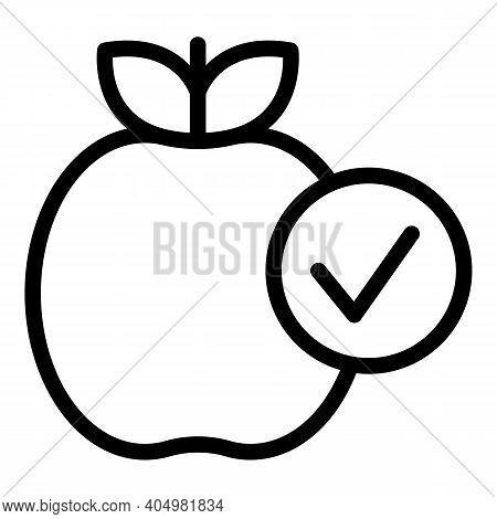 Apple Food Slimming Icon. Outline Apple Food Slimming Vector Icon For Web Design Isolated On White B