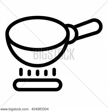 Wok Frying Pan Icon. Outline Wok Frying Pan Vector Icon For Web Design Isolated On White Background