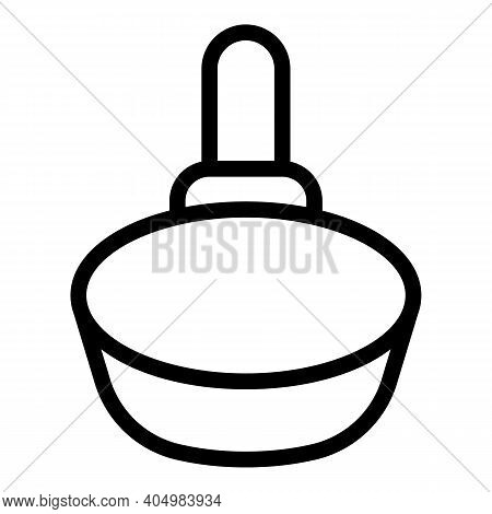 Meal Wok Frying Pan Icon. Outline Meal Wok Frying Pan Vector Icon For Web Design Isolated On White B