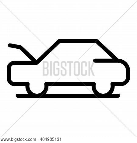 Open Front Dashboard Icon. Outline Open Front Dashboard Vector Icon For Web Design Isolated On White