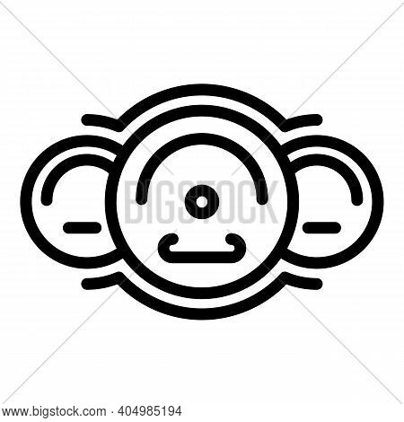 Modern Car Dashboard Icon. Outline Modern Car Dashboard Vector Icon For Web Design Isolated On White
