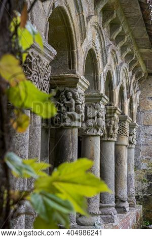 Cloister Of The Collegiate Church Of Santa Juliana, In Santillana Del Mar, Province Of Cantabria, Sp