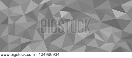 Geometric Background Of Gray Triangles. Abstract Background . Vector Icon.