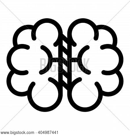Brain Anatomy Icon. Outline Brain Anatomy Vector Icon For Web Design Isolated On White Background
