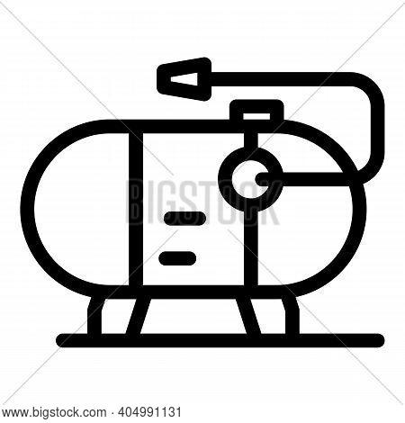Gasoline Compressor Icon. Outline Gasoline Compressor Vector Icon For Web Design Isolated On White B
