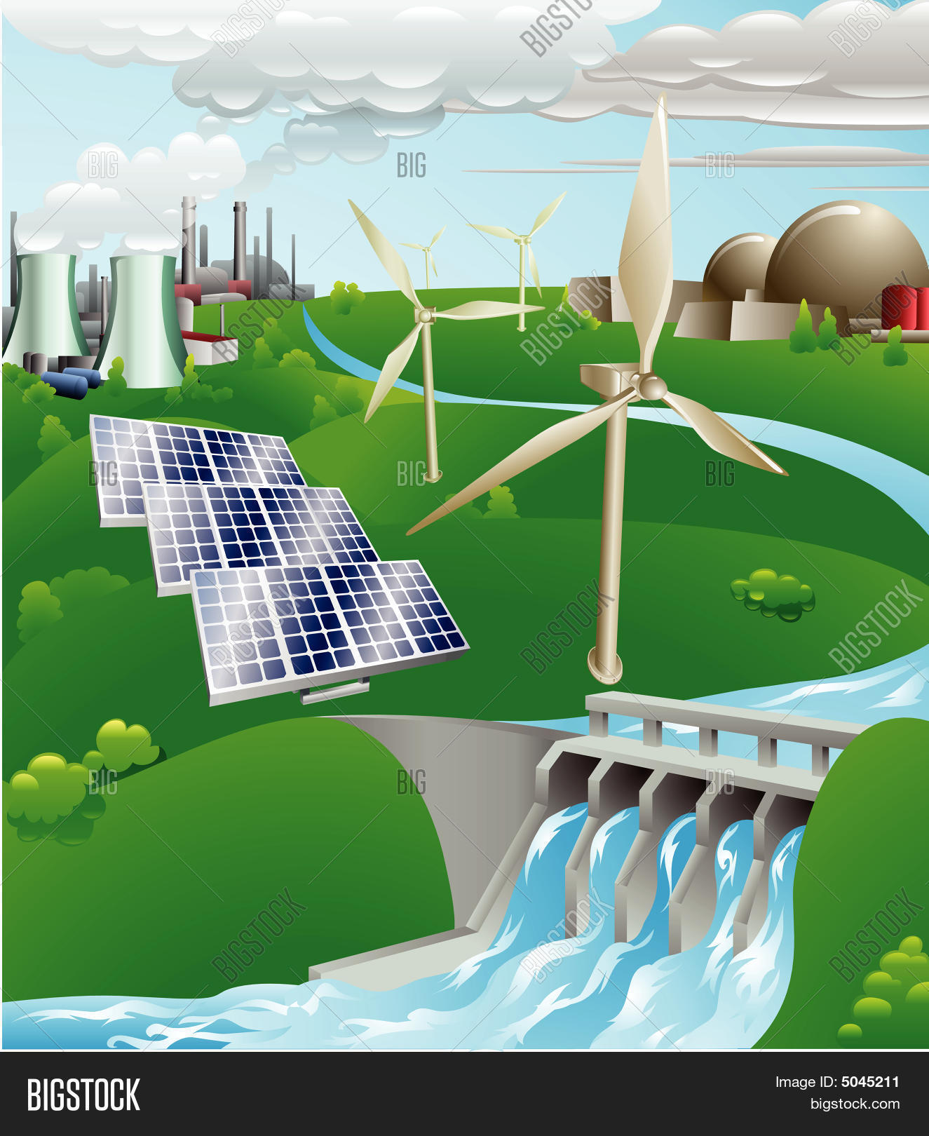 Electricity Power Vector Photo Free Trial Bigstock