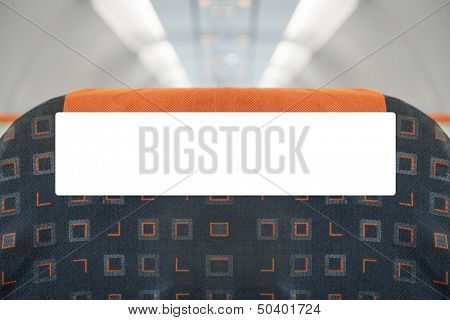 Inflight advertising poster - blank and editable