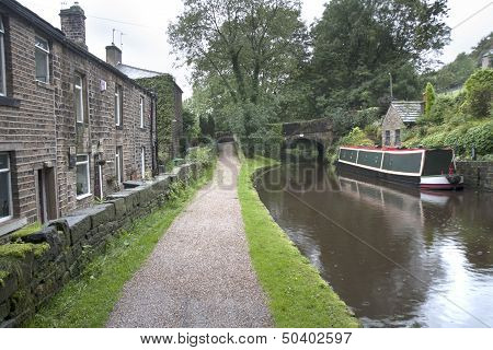 Barge And Towpath