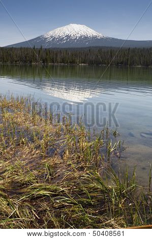 Saturated Color Lake Near Mt. Bachelor Oregon Cascade Range Vertical